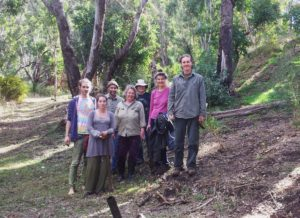 Tree planting group for the Origins Centre